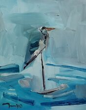 JOSE TRUJILLO Oil Painting IMPRESSIONISM 11x14 BIRD COLLECTIBLE FINE ART SIGNED