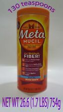 Metamucil Multi-Health Fiber Meta Orange Smooth Sugar Free 113 Teaspoons 26.6 Oz