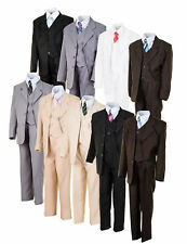 5tlg. Kinder Fest Anzug Kommunionsanzug Smoking Jungen Kinderanzug Hochzeit