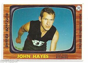 1967 Scanlens (31) John HAYES Fitzroy ! Excellent !