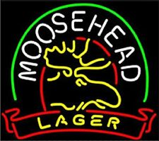"New moosehead Bar Beer Light Lamp Neon Sign 20"""