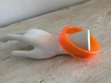 ORANGE CLEAR ACRYLIC STATEMENT BANGLE / BRACELET