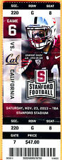 2013 THE BIG GAME-11/23/13 CAL/STANFORD FOOTBALL FULL TICKET