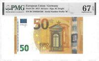 EUROPEAN UNION GERMANY 50 EURO 2017 PICK 23 R GEM UNC LUCKY MONEY VALUE $670