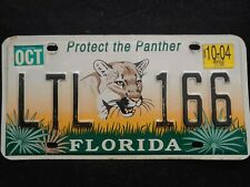 Florida Protect the Panther license plate