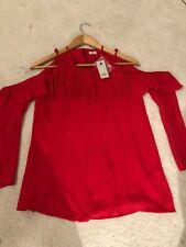 Size 6 River Island Red Top -