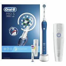 Braun Oral-B PRO 3 3000 Cross Action 3D Electric Rechargeable Toothbrush +2 Head