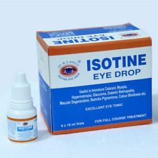 6 x ISOTINE EYE DROPS BEST TREATMENT OF CATARACT,MYOPIA AND HYPERMETROPIA 10 ML