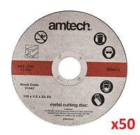 "50 x Ultra Thin Metal Cutting Discs 115mm 4.5"" 4 ½ "" Angle Grinder Slitting New"