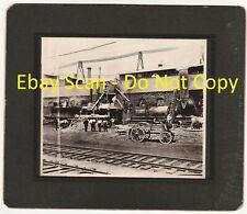 RARE Photo -  Road Paving Construction Plant  - 1909  Paterson New Jersey NJ