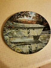 Royal Doulton 1978 Plate Lovejoy Covered Bridge In South Andover, Maine