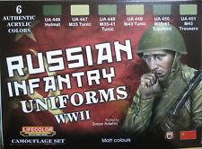 Lifecolor Acrylics LC-CS42 WW2 Russian Infantry Uniforms Paint Set