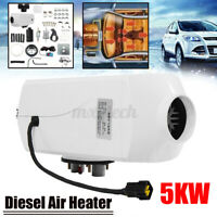 12V 5KW Air Diesel Heater Kits Tank Vent Duct Thermostat For Car Truck Bus Van