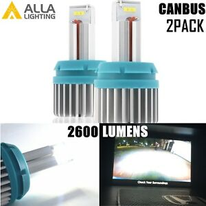 Alla Lighting 6000K 2600LM 7440 Back Up Reverse Light,Brake Bulb Super White, 2x