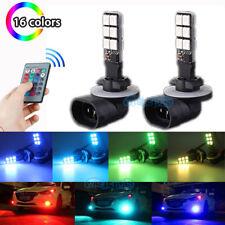 2Pcs 881 5050 12SMD RGB Fog Light Bulbs Car Lamp Blue Pink Red Green Ice Blue