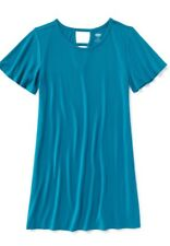 NWT Old Navy V Back Tee Jersey  Dress Size XL 14 Ki Girl Spring Blue