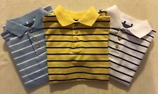 LOT of THREE BOYS BUTTONDOWN SHORT SLEEVE POLO SHIRTS by BASIC EDITIONS size 4/5