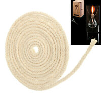 10FT Dia 3/16'' Round Cotton Wicks Burner For Kerosene Oil Alcohol Lamp 300cm