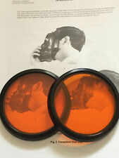 S10 GAS MASK  RESPIRATOR ORANGE LENSES OUTSERTS