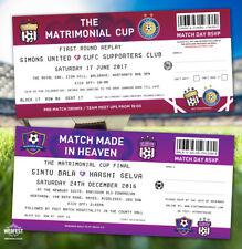 Football / Soccer / Sports Ticket Wedding Invitations (sample pack)