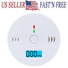 NEW CO Carbon Monoxide Detector Fire Security Sensor Voice Alert Loud Alarm Home
