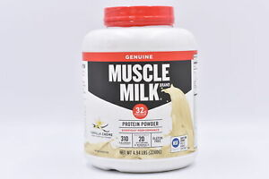 Muscle Milk Genuine Protein Powder, Vanilla Creme, 4.94lb, EXP: 04/2022