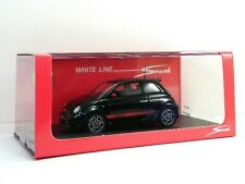 WOW EXTREMELY RARE Fiat 500 Abarth 133HP 2008 Black Resin 1:43 Spark-Minichamps