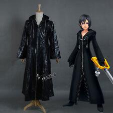 Kingdom Hearts Xion Organization 13 XIII Black Coat Anime Cosplay Costume