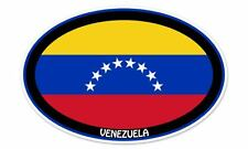 "Venezuela Euro Flag Oval car window bumper sticker decal 5"" x 3"""