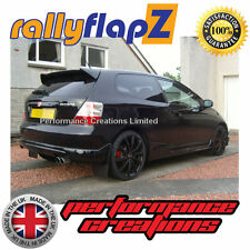 5Rally Mudflaps Honda Civic Type R ep3 (01-07) Mud Flaps Plain Black 4mm PVC x 4