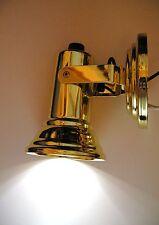 BBT Brand 12 volt Brass Marine Grade LED Reading Lamp / Berth Light