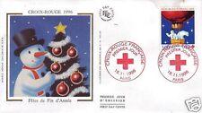 3039+  FDC ENVELOPPE 1er JOUR SOIE CROIX ROUGE  1996