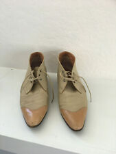 Vintage Robert Clergerie Short Fabric and Leather boots