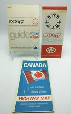 Montreal, Canada Expo 67 1967 Lot  Official Guide, Map -international exposition