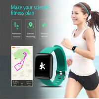 """MONTRE INTELLIGENTE BLUETOOTH FITNESS 1,3"""" IPHONE SAMSUNG FRÉQUENCE CARDIAQUE F"""