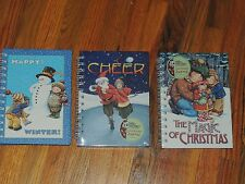 Mary Engelbreit Spiral Journals set of 3 Cheers Magic Of Christmas Happy Winter