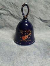 Vintage Ceramic Dark Cobalt Blue Nashville Music City U.S.A. Souvenir Bell