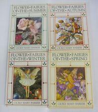 4 FLOWER FAIRIES BOOKS CICELY MARY BARKER (SPRING, SUMMER, AUTUMN, WINTER)