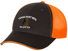Hat Gray Front Orange Cap Back Coon Hound Coonhound Dog Hunter Hunt Plott