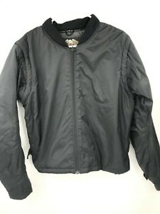Harley Davidson Jacket Womens M Medium Black Coat Bomber Full Zip Motorcycle