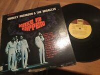 Smokey Robinson & Miracles: Make It Happen LP TAMLA TS-276 from 1967..60's SOUL
