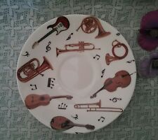 Roy Kirkham large breakfast saucer fine bone china Concert design