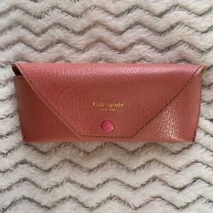 """Kate Spade Pink Sunglasses ONLY The """"CASE"""" Soft Faux Leather"""