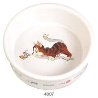 Trixie Ceramic Cat Bowl With Motif White 0.2L 11cm TX4007