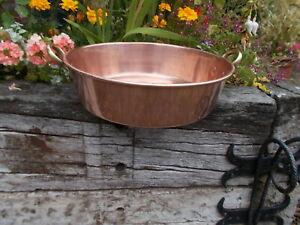 Lovely 5ltr French Vintage Copper Jam Pan Bowl MP/159b