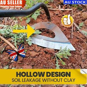Hollow arc Hoe Hand-held Weeding rake Gardening Tool All-Steel Hollow Hoe PL