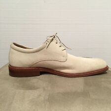Cole Haan Nike Air Men's 11M Ivory Suede Plain Toe Oxford Shoes Lace Up