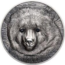 Mongolian Gobi Bear 1 oz silver coin antiqued Mongolia 2019