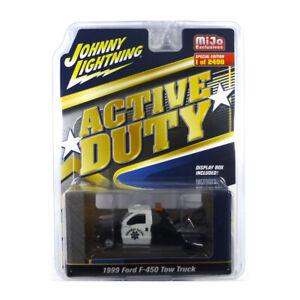 Johnny Lightning JLCP7255 Ford F-450 Tow Truck Blanc/Noir Maßstab 1:64 Neuf !°