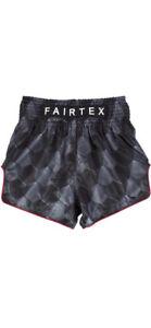 Fairtex Muay Thai stealth black boxing shorts NEW size XL athletic snug fit